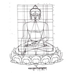 Sketch of Buddha's body without robes